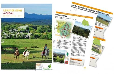 Edition le Puy-de-Dôme à cheval pour le Comité Dep. du Tourisme Equestre - Contenu rédactionnel et visuels