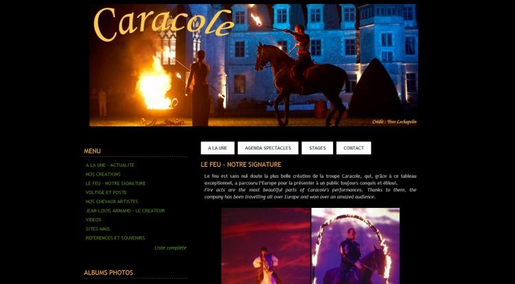 Création du site Internet http://www.caracole.info / Compagnie Caracole / Création 2006